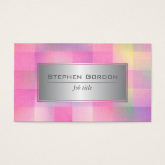 Colourful square pattern business card