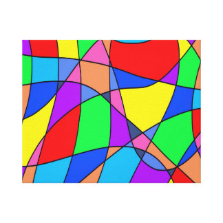 Colourful Squares Abstract Canvas Print