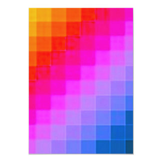 Colourful Squares Invitations