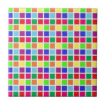 Colourful Squares on White