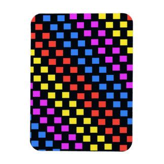 Colourful Squares Rectangular Photo Magnet