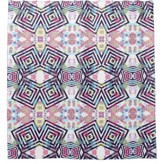 colourful squares shower curtain