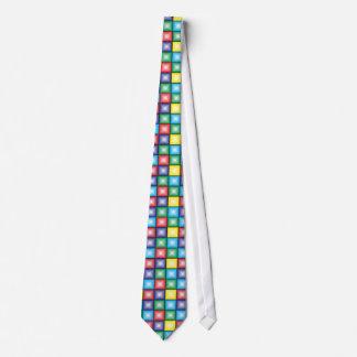 Colourful squares tie