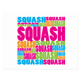 Colourful Squash Postcard