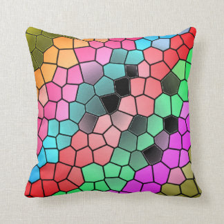 Colourful Stained Glass Design Pattern Cushion