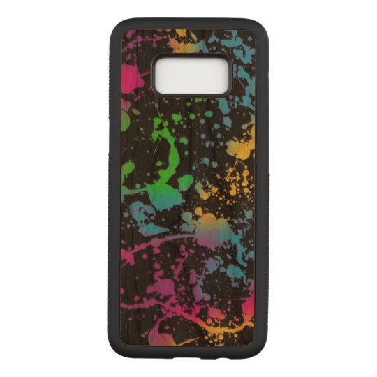 colourful stains spots art carved samsung galaxy s8