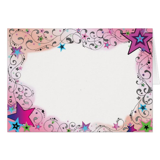 Colourful Star Border Greeting Card