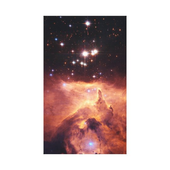Colourful Star Cluster and Nebula Canvas Print
