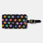 Colourful star pattern luggage tag