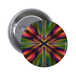 Colourful starburst 6 cm round badge
