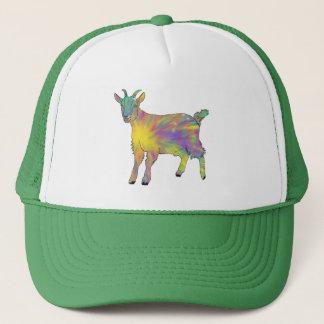 Colourful Starburst Art Goat Funny Animal design Trucker Hat