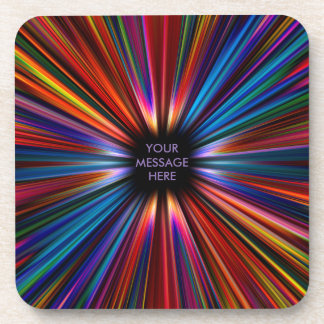 Colourful starburst explosion coaster