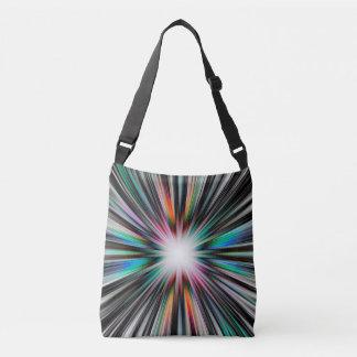 Colourful starburst explosion crossbody bag