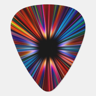 Colourful starburst explosion guitar pick