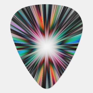 Colourful starburst explosion plectrum