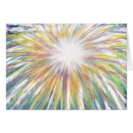 Colourful Starburst Star of Wonder Christmas Art Card
