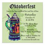 Colourful Stein on Green Oktoberfest Invitation 13 Cm X 13 Cm Square Invitation Card