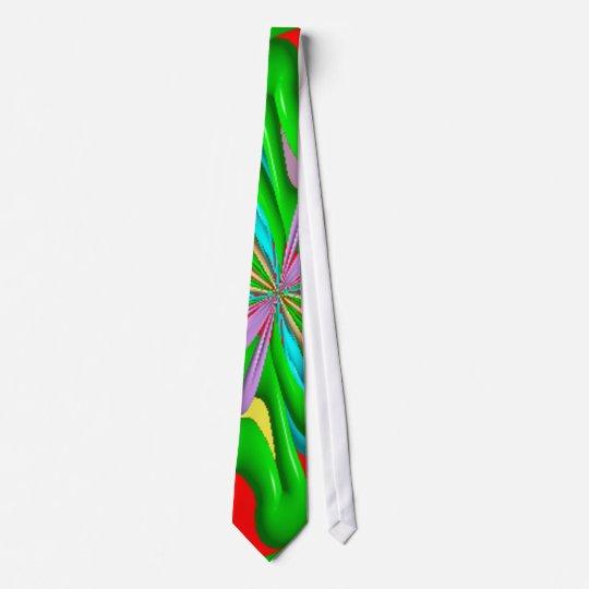 Colourful strange pattern tie