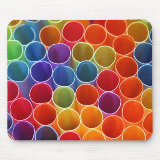 Colourful Straws Mousepad