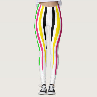 Colourful Stripe Drops Leggings