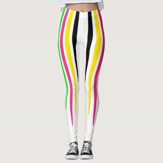Colourful Stripe Drops Leggings