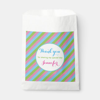 Colourful Striped Lines Thank You Favour Bags