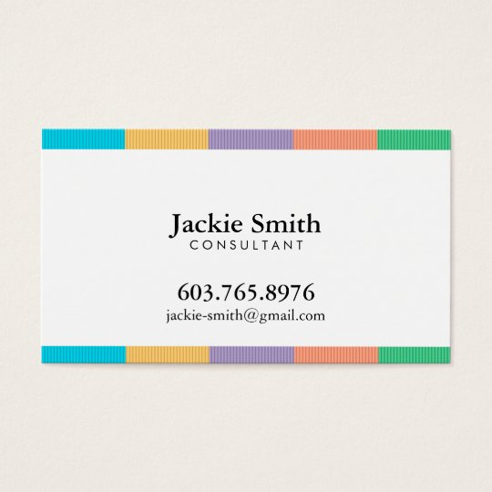 Colourful Striped Pattern Business Card