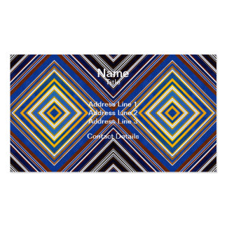 Colourful Stripes Acrylic Symmetry Tiled Pattern Business Card