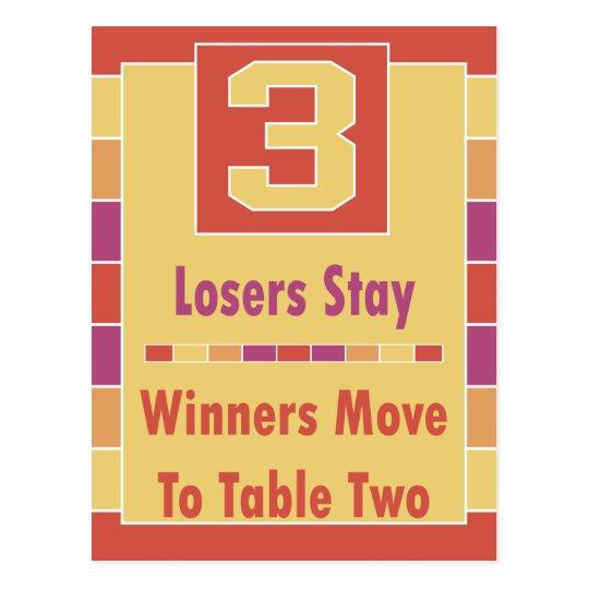 Colourful Stripes Bunco Table Card #3