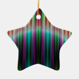 Colourful stripes pattern ceramic star decoration