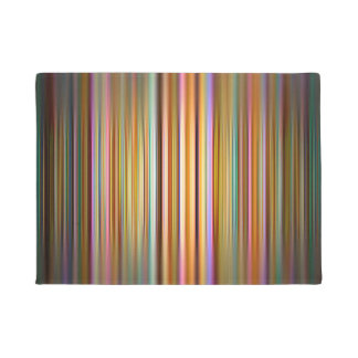 Colourful stripes pattern doormat