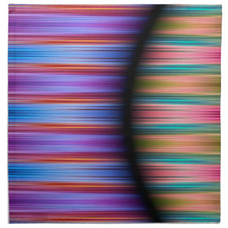 Colourful stripes pattern napkin
