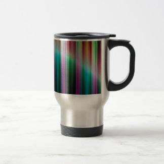 Colourful stripes pattern travel mug