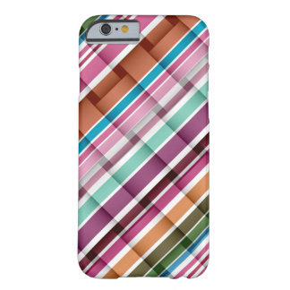 Colourful stripes seamless art graphic barely there iPhone 6 case