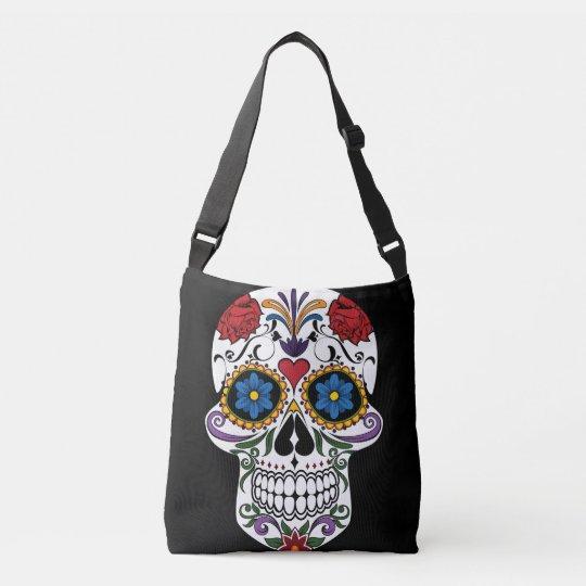 Colourful Sugar Skull All-Over-Print Cross Body Crossbody Bag