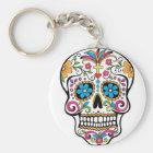 Colourful Sugar Skull Key Ring