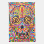 Colourful Sugar Skull Kitchen Towel
