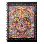 Colourful Sugar Skull Notebook Day of the Dead
