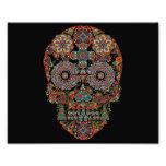 Colourful Sugar Skull Photo Print