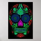 Colourful Sugar Skull Poster