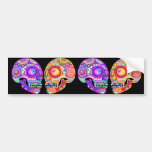 Colourful Sugar Skulls Bumper Sticker