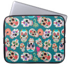 Colourful Sugar Skulls Laptop Sleeve