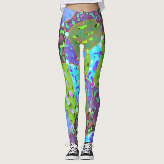 Colourful summer blossom leggins leggings
