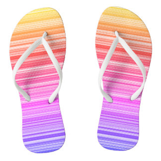 Colourful summer flip flops