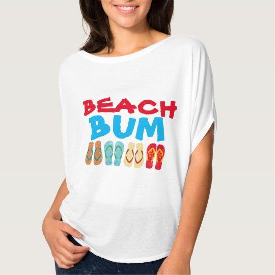 Colourful Summer Flip Flops White Beach Bum T T-Shirt