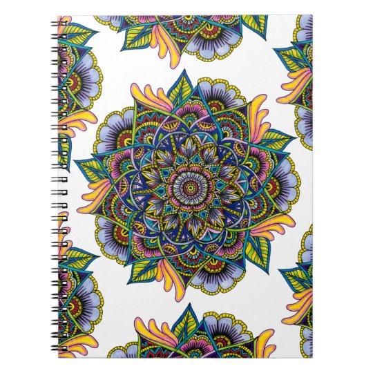 Colourful Summer Mandala Design Spiral Notebooks