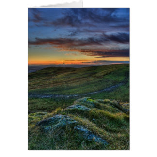Colourful Sunset Greeting Card