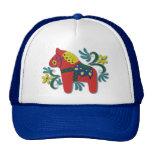 Colourful Swedish Dala Horse Cap