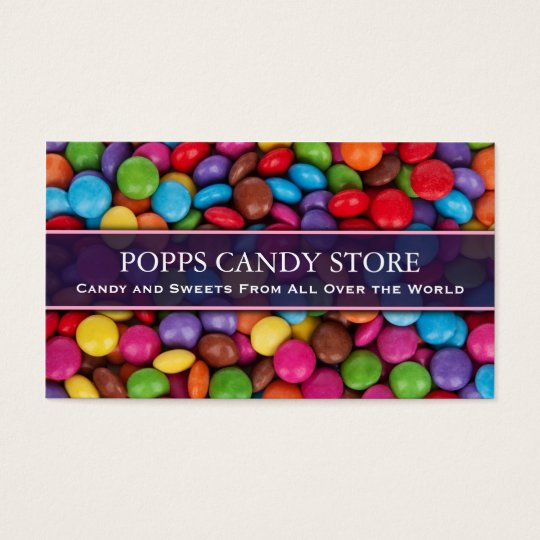 Colourful Sweets and Candy - Business Card