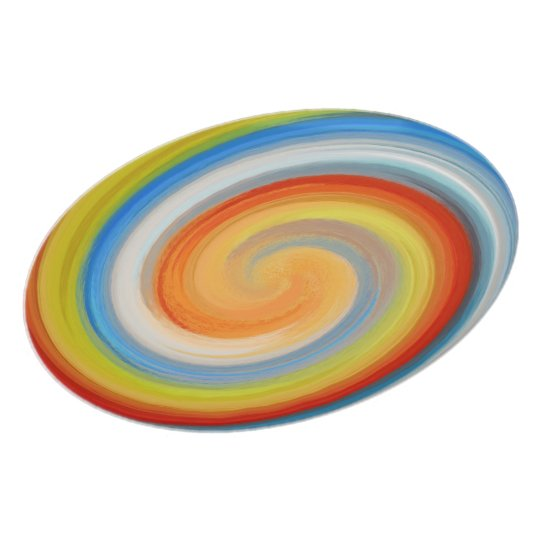 Colourful Swirl Abstract #2 Plate